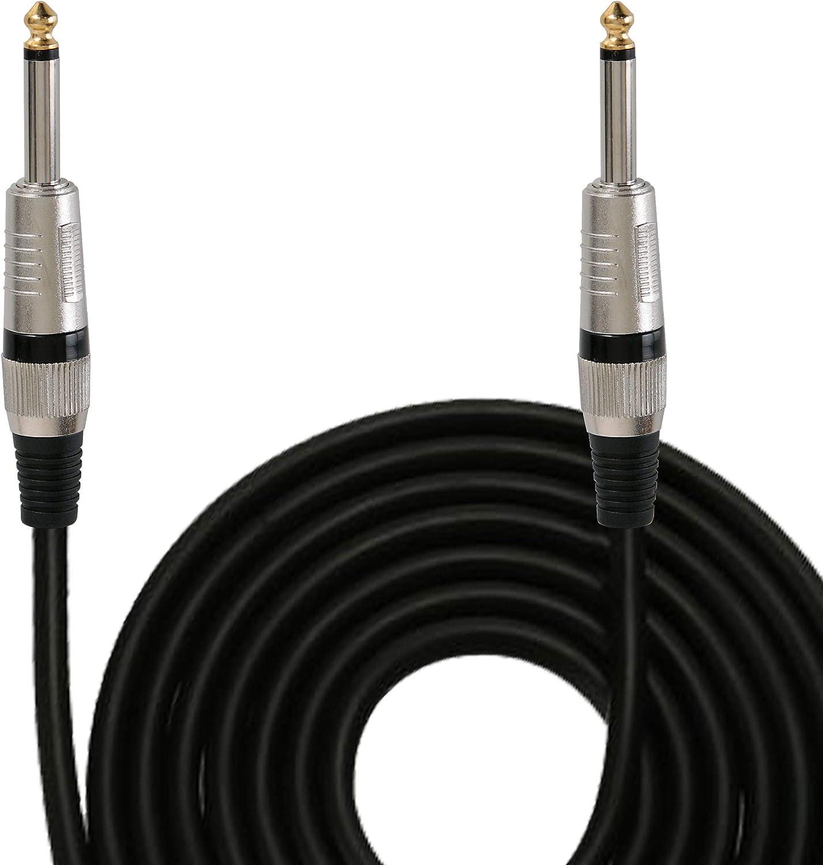 "2-Pack Kirlin Pro Audio 6 FT Speaker Cable 1//4/"" 16AWG Guitar Bass Amp Amplifier"