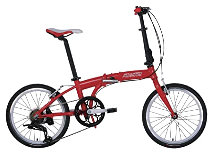 Ferrari® Foldable Bicycle Series Alloy 7 Speed Foldable Bike with 20 inch SRAM Wheels