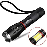 SMTFCO LED S800 Flashlight with COB Work Light and Magnet