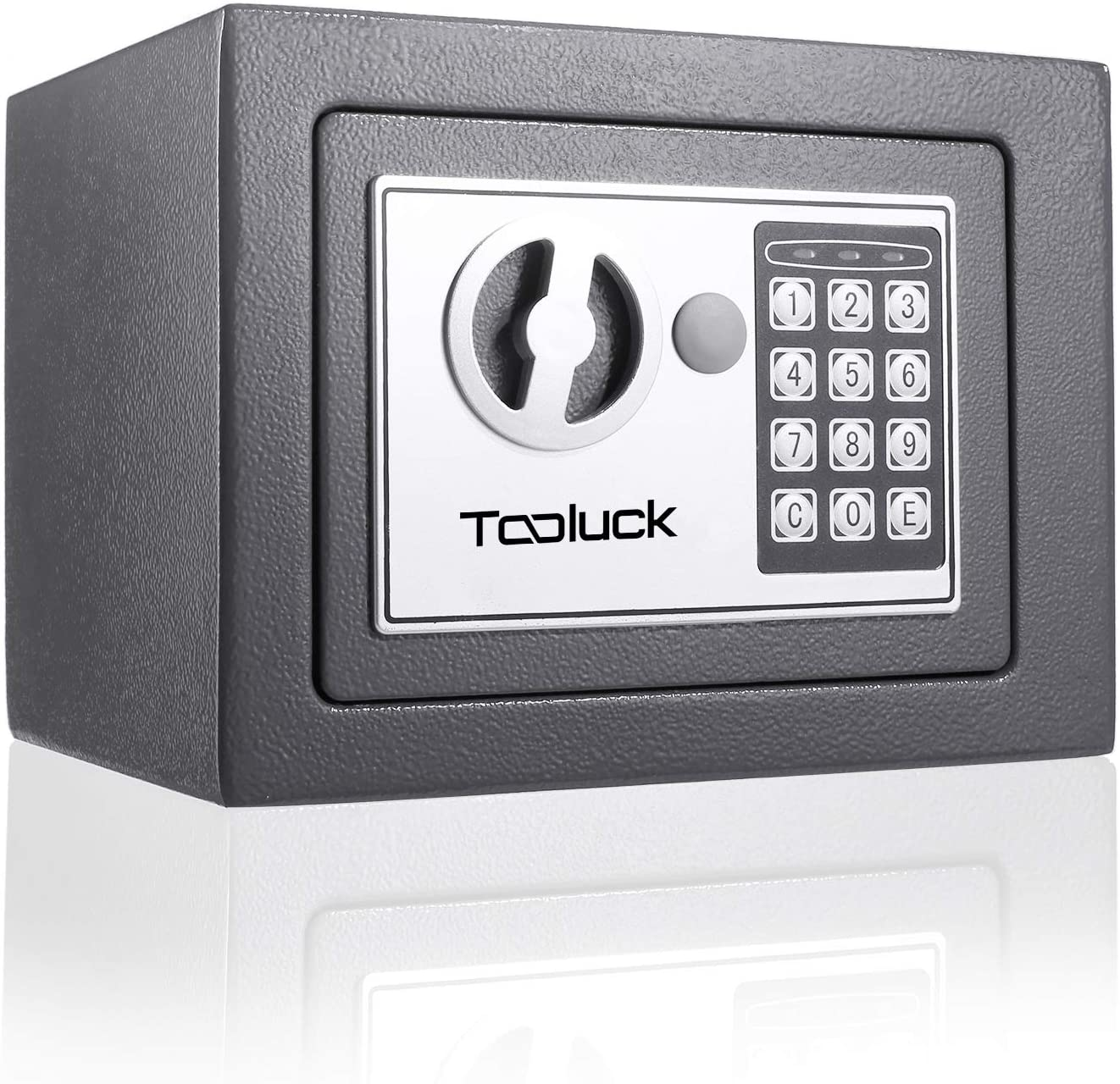 TOOLUCK Safe Box, Digital Security Safe, Fireproof Keypad Safe Lock Box with Keys, Money Box and Deposit Box for Cash Gun Jewelry Home Office Hotel Storage