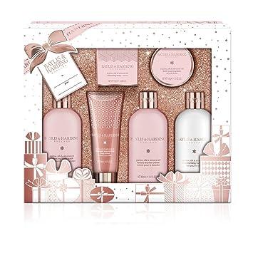 Set de regalo de baño Baylis & Harding Jojoba, seda y aceite de almendra: Amazon.es: Salud y cuidado personal