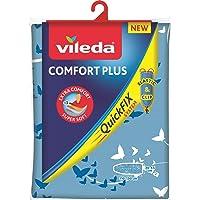 Vileda Comfort Plus pokrowiec na deskę do prasowania, niebieski, 3 warstwy, system Quick-Fix, 30–45 cm x 110–130 cm