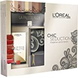 L'Oréal Paris Cofanetto Edizione Limitata Chic Seduction Confezione Idea Regalo con Pochette, Palette Ombrèe e Palette Labbra Color Riche