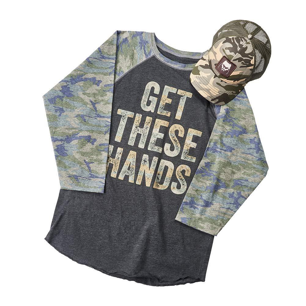 WWE Braun Strowman Camouflage Raglan Baseball Shirt & Hat Set