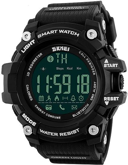 Skmei Relojes Digital Hombre Deportivos Smartwatch iOS Android Bluetooth 5 ATM Impermeable Quartz: Amazon.es: Relojes