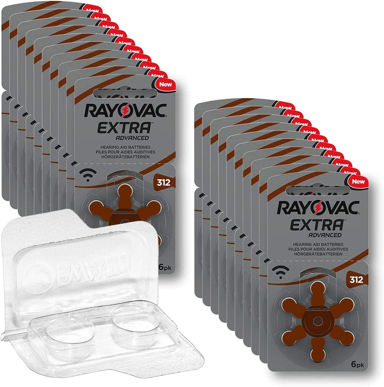 120x Rayovac Extra Advanced Gr 312 Aufbewahrungsbox Elektronik