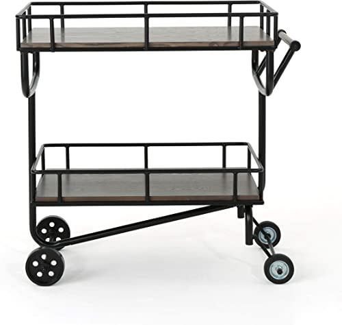 Christopher Knight Home Lavinia Industrial Faux Wood Bar Cart