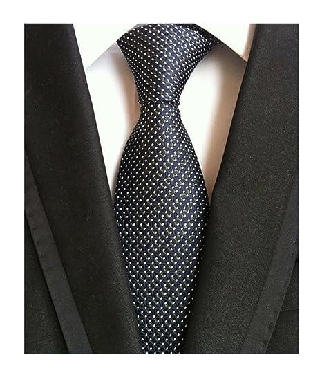 men s black navy blue patterned silk ties classic ribbed designer