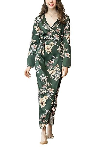 Bata para Mujer Kimono Calentamiento De Satén La Noche De 2018 Sche Chic Ropa Toga Bata