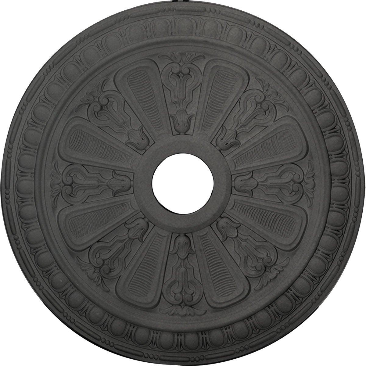 Ekena Millwork CM23BISGS 23 1/2'' OD x 3 7/8'' ID x 1'' P Bristol Ceiling Medallion fits Canopies up to 3, Steel Gray