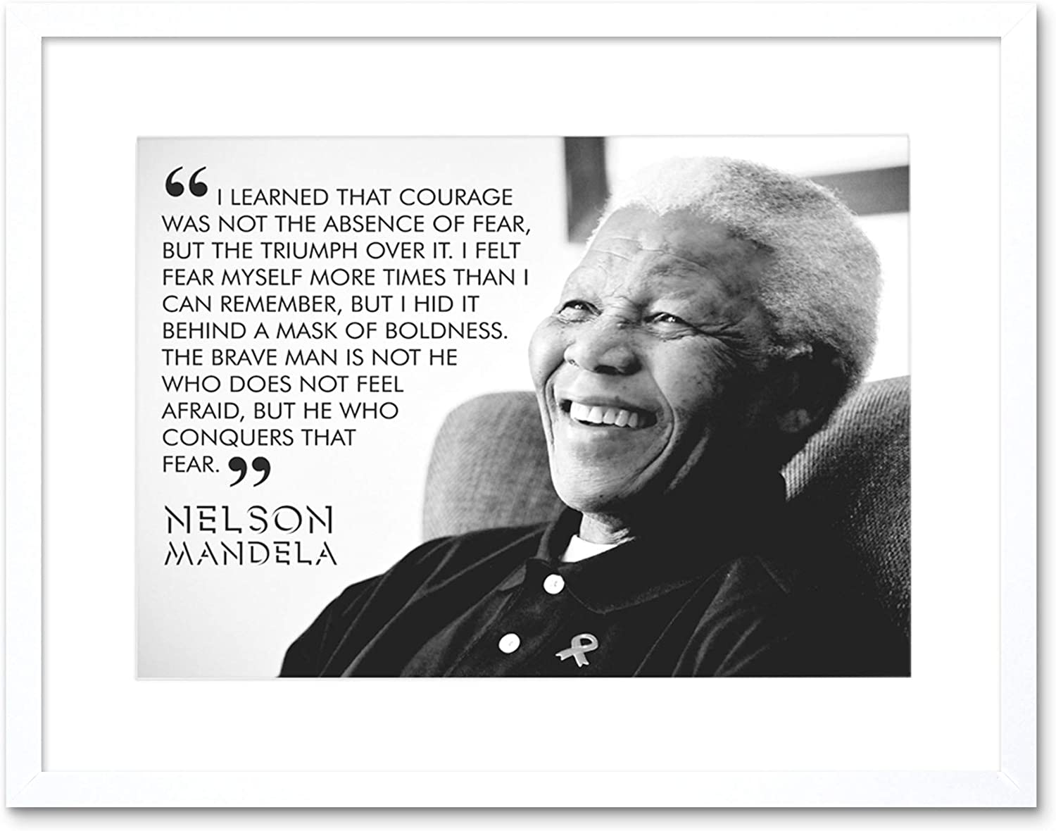 The Art Stop Quote Learned Courage Nelson Mandela Framed Print F12x3685 Furniture Decor