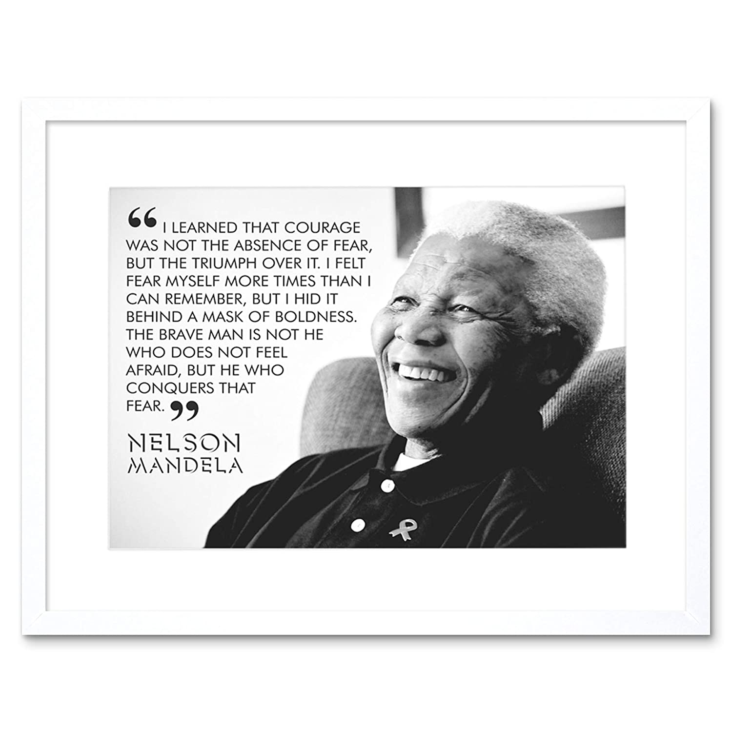 Amazon The Art Stop Quote Learned Courage Nelson Mandela Print