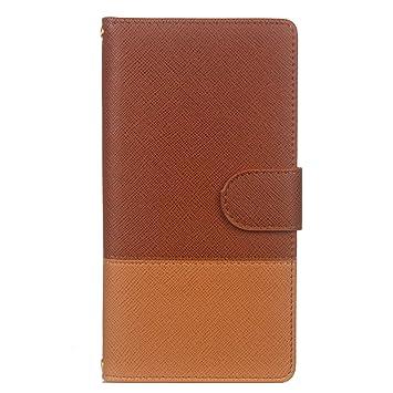 78b43736b6 Ostop Portefeuille Homme Coque pour Samsung Galaxy Note 8,Marron Étui en  Cuir Simple avec