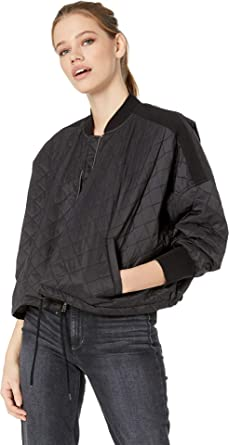 8c4582d9cb1 Amazon.com: Jack by BB Dakota Women's Girl Friday Quilted Bomber Jacket  with Rib Trim Black Large: Clothing