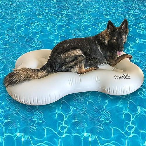 Midlee-Dog-Raft-Pool-Float-Inflatable-Bone-Shape