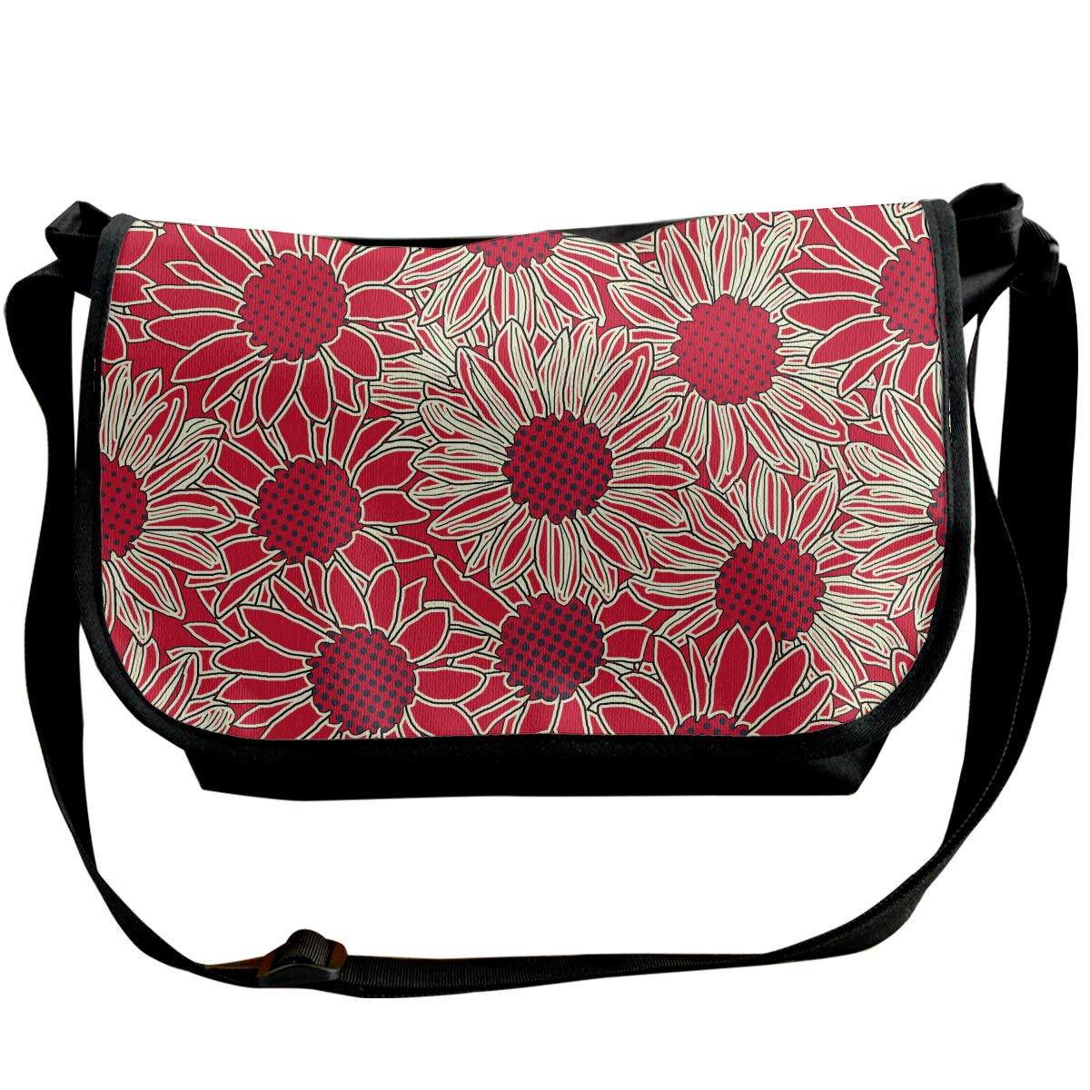 XIANGXIANG SHOP Floral Pattern Background Fashion Unisex Casual Popular Outdoor Sling Bag Messenger Bag Shoulder Bag