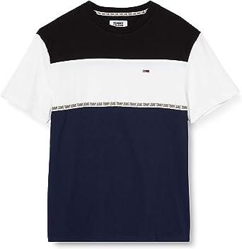 Tommy Hilfiger TJM Colorblocked Tape tee Camiseta para Hombre: Amazon.es: Ropa y accesorios