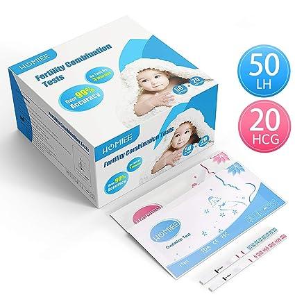 HOMIEE Kits de Tests de Ovulación y Fertilidad, Pruebas De Embarazo De Alta Sensibilidad,