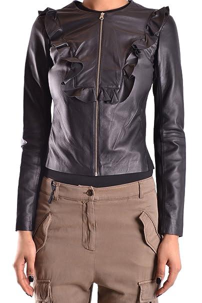 bc52d5d6cc67a Pinko Giacca Outerwear Donna Giustoz99 Pelle Nero  Amazon.it  Abbigliamento