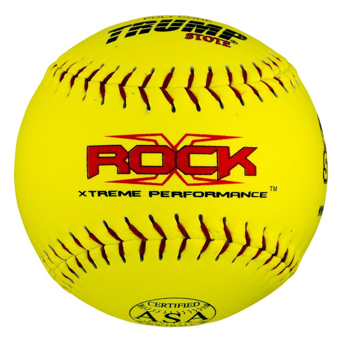 1 Dozen Trump X-Rock ASA 12'' Softballs - 44cor/.375 Compression (X-Rock-ASA-Y-2)