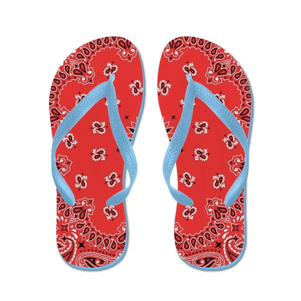 Lplpol Red Bandana Flip Flops for Kids and Adult Unisex Beach Sandals Pool Shoes Party Slippers