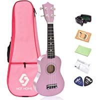 "NOT HOME® 21"" Soprano Ukulele with a Carrying Bag and a Digital Tuner, Specially Designed for Kids, Students and beginners (Pink)"