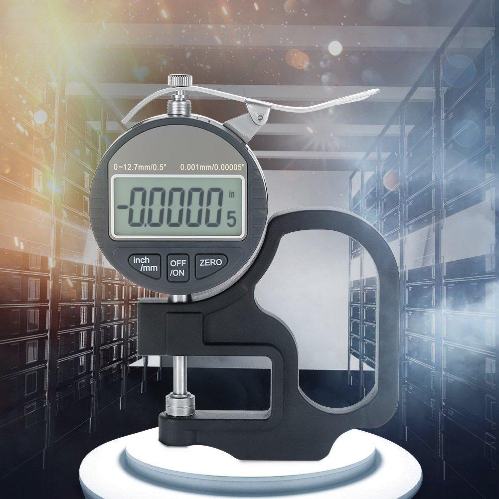 Digitalanzeige Papier Leder Stoffstärke Messgerät Messwerkzeugbereich 0 12 7 Mm 0 001 Mm Gewerbe Industrie Wissenschaft