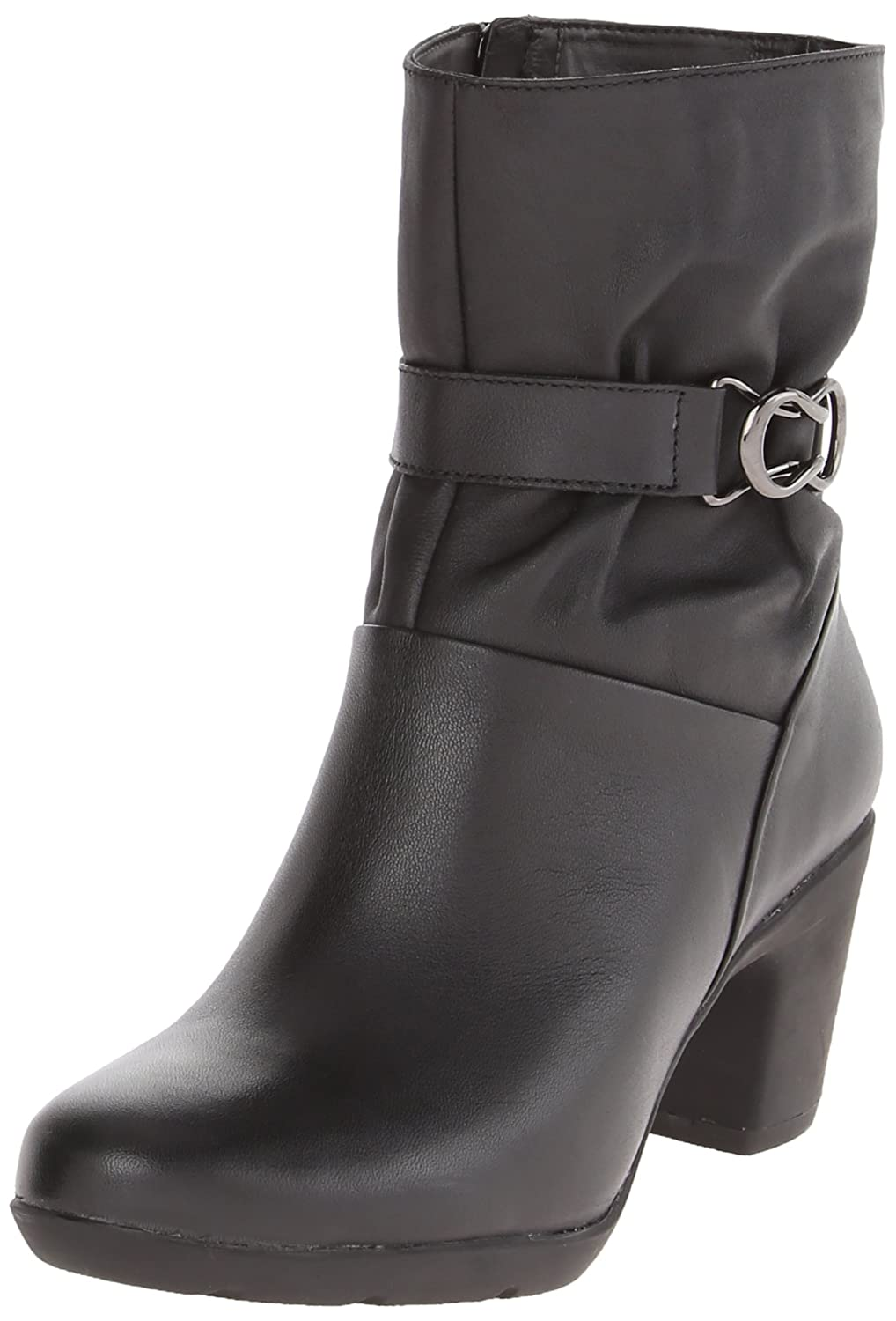 CLARKS Women's Lucette Holly Waterproof Boot Black Leather