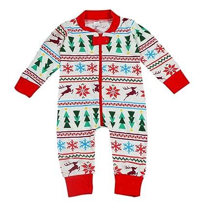 Bebé de Navidad pijama Pelele para bebé 0 – 18 meses disfraces Papá Noel por bornbayb