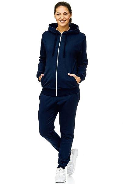 Mujer Chándal Jogging | Uni 586 | Formación la traje de 100% algodón | Formación la chaqueta con cremallera | Jogging Pantalones con cordón y correa | ...