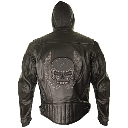 Amazon Com Xelement Bxu573 Mens Black Armored Leather Motorcycle