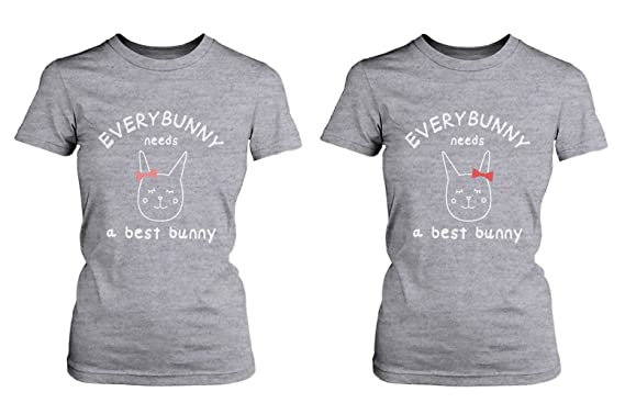 67b0ee2ff Amazon.com  Cute Best Friend Shirts - Everybunny Needs a Best Bunny ...