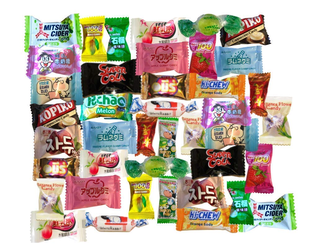 Asian Candy Mystery Variety Pack | 40 PCS | Japanese Candy, Chinese Candy, Vietnamese Candy, Korean Candy Mix