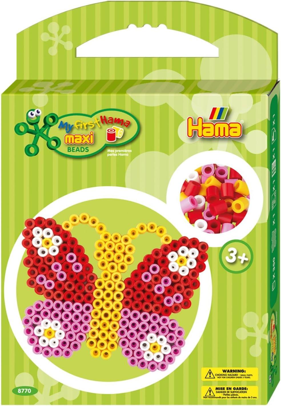 HAMA BEADS Hama Maxi Set Maxi Mariposa: Amazon.es: Juguetes y juegos