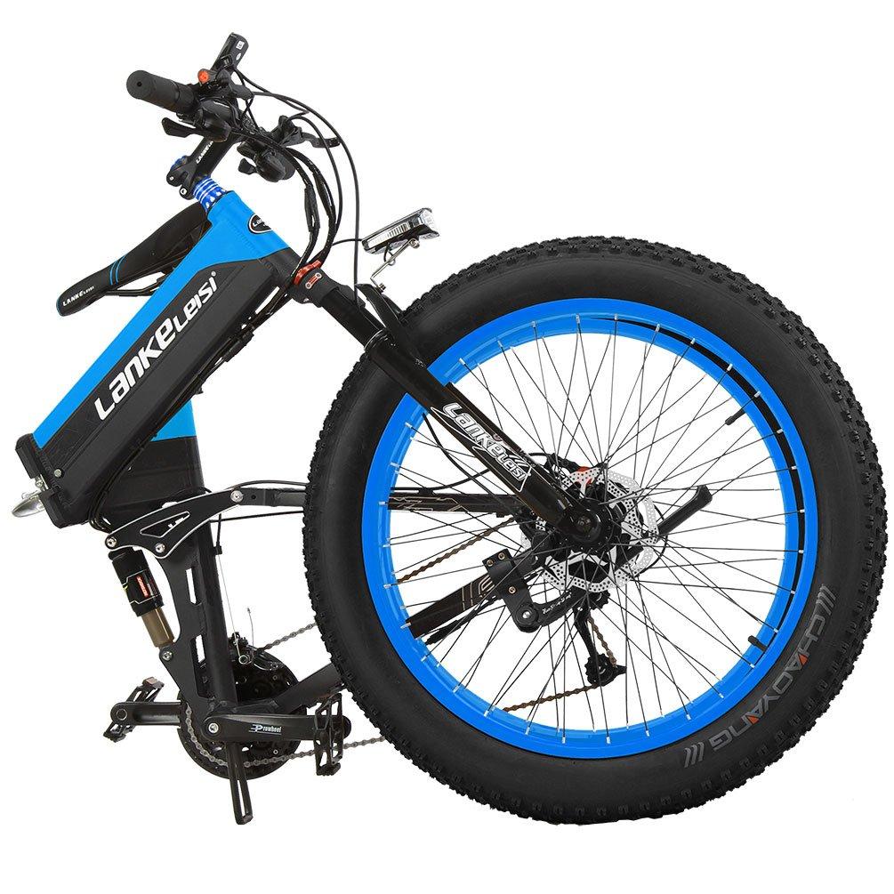 lankeleisi 26 39 39 fat wheel folding electric bicycle 48v. Black Bedroom Furniture Sets. Home Design Ideas