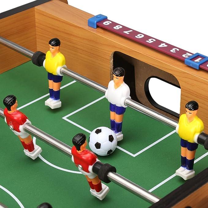 Virhuck Futbolin Foosball, Juego de fútbol de Mesa, Grano de Madera Juguete Navidad (27in): Amazon.es: Juguetes y juegos