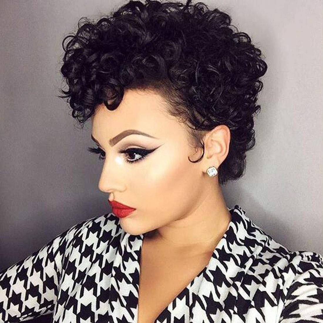 Flandi Short Pixie Cut Wigs for Black Women