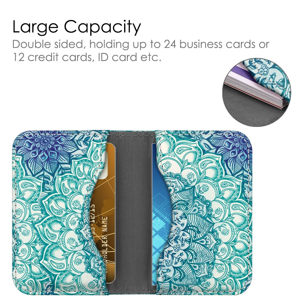 Business Card Holder Case Folio Credit Cards ID Card Wallet ...