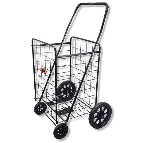 Amazon.com: SCF carro de compras plegable con 4 ruedas: Home ...