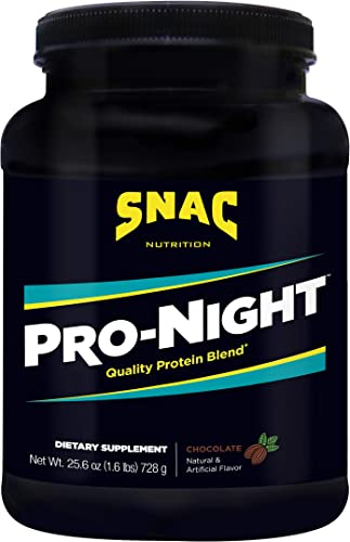 SNAC Pro-Night Quality Protein Blend for Nighttime Muscle Recovery, Chocolate