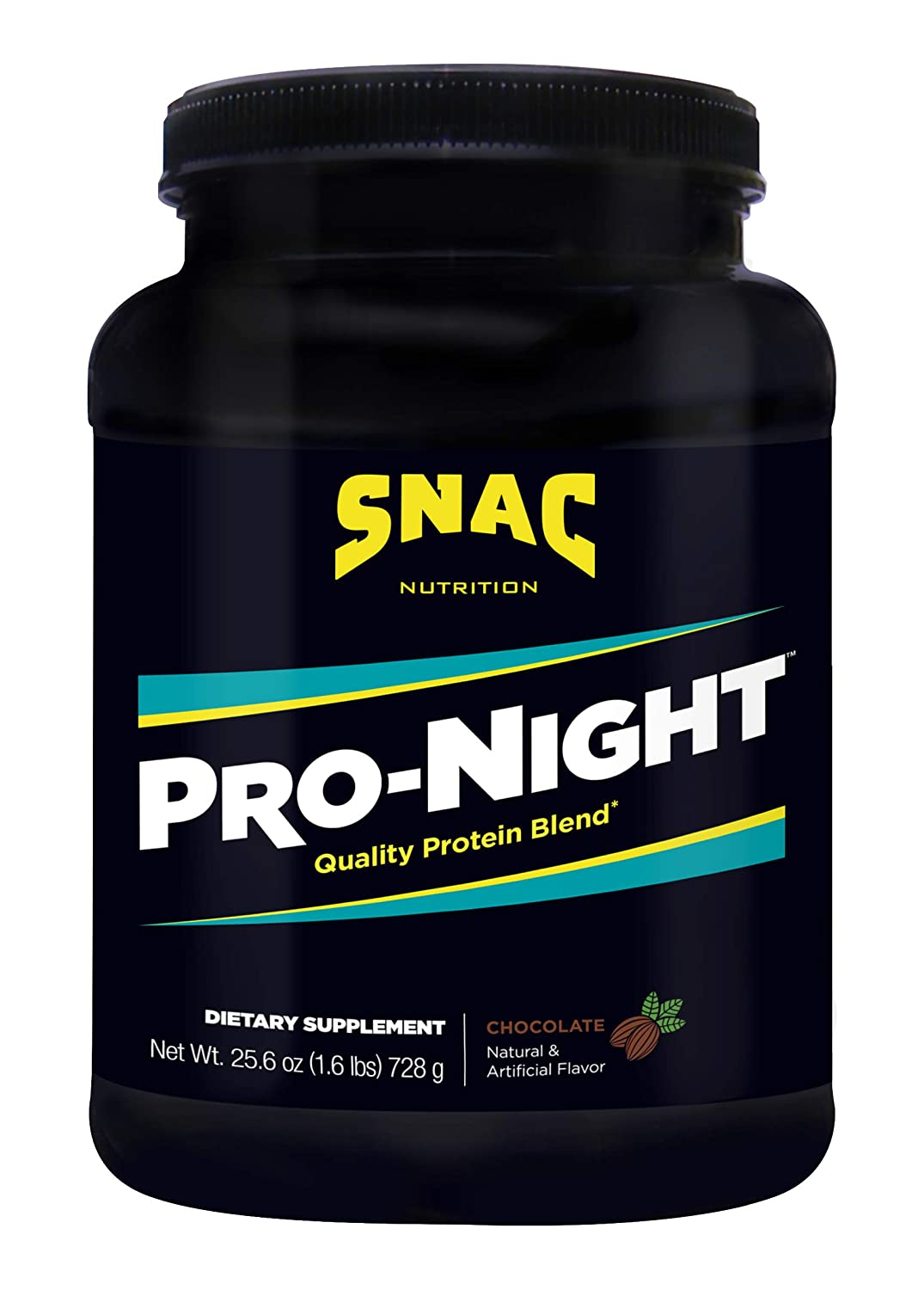 SNAC Pro-Night Quality Protein Blend, Chocolate, 1.6 Pounds