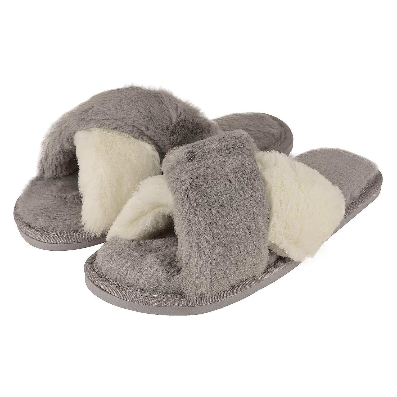 Indoor Faux Fur Fleece Home Slippers