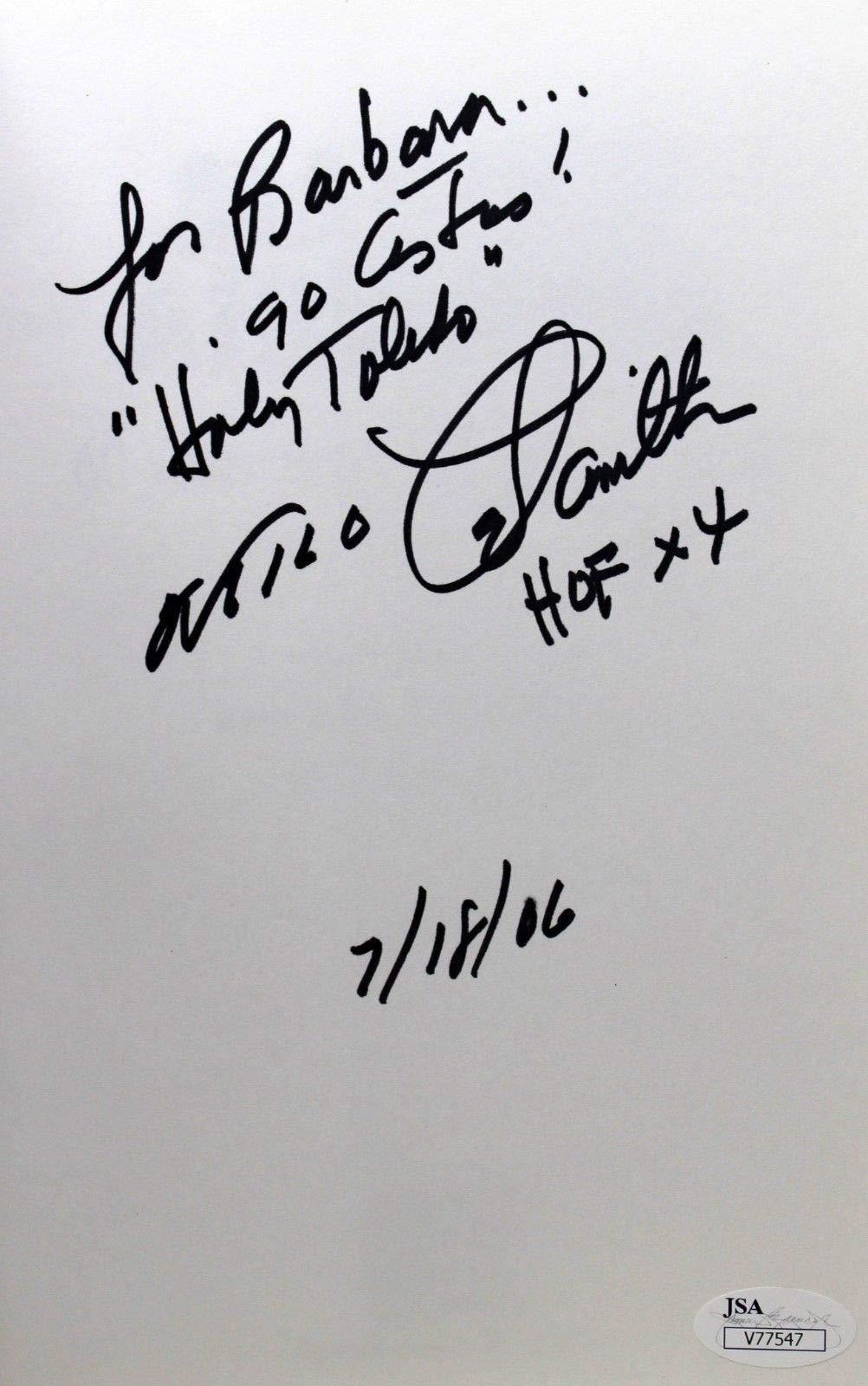 Milo Hamilton Autographed Signed Book Making Airwaves Holy Toledo JSA V77547