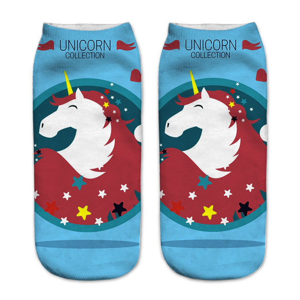 HENGSONG Women Girls Cute Horse Pattern Socks Sports Stocking UK93522314