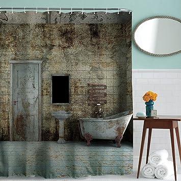 180x180cm Badezimmer Duschvorhänge, Wasserdichter Schimmel-Beweis ...