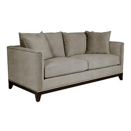 Amazon.com: La Brea Studded Apartment Size Sofa, Taupe, 72\