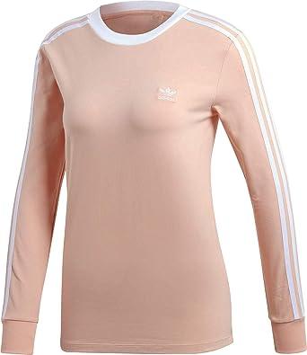 adidas 3 STR W Camiseta de Manga Larga Dust Pink: Amazon.es: Ropa ...