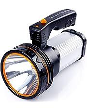 ALFLASH Linternas LED de alta potencia Linternas recargables para acampar 7000 lúmenes Linterna táctica Impermeable Foco super brillante Reflector portátil (Plata)