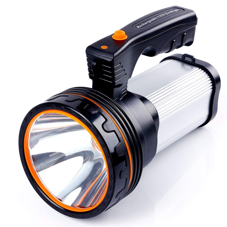 ALFLASH Led Taschenlampe Laterne 7000 Lumen USB Wiederaufladbare CREE Led Handscheinwerfer Handlampe Outdoor Wasserfest IPX4 Extrem Super hell Portable Handscheinwerfer LED-Scheinwerfer, 9000Mah(Gold)