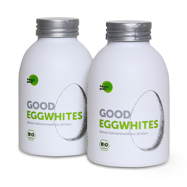 Good Eggwhites 2 x 483 ml (clara de huevo ecológica) • proteína líquida • adelgazar de forma saludable y ganar masa muscular • batidos de proteínas • baja ...
